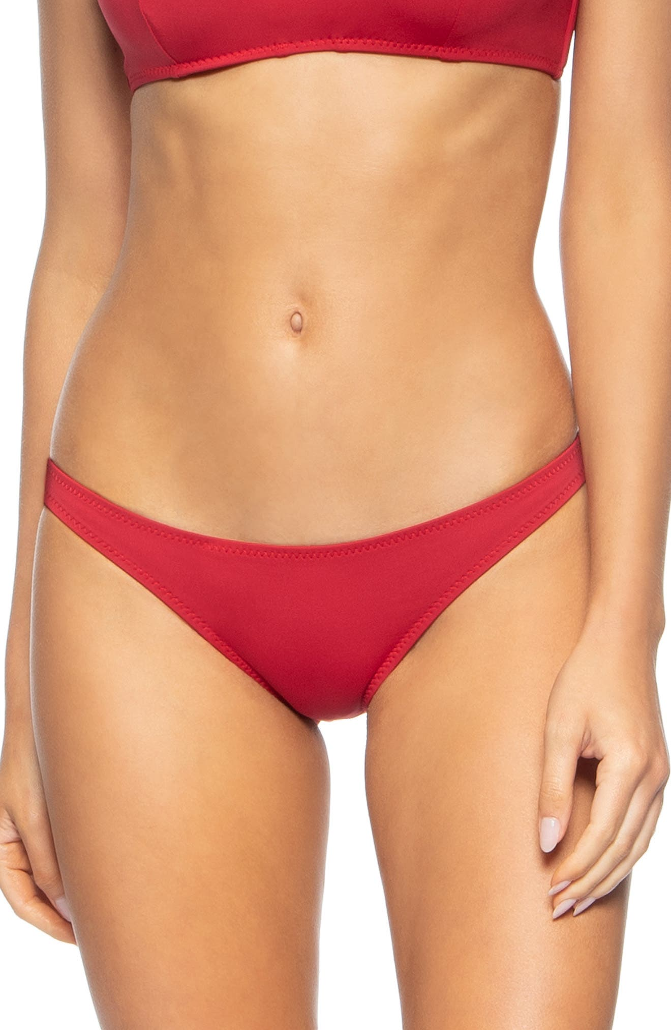 ,                             Veda Bikini Bottoms,                             Main thumbnail 1, color,                             SCOOTER RED
