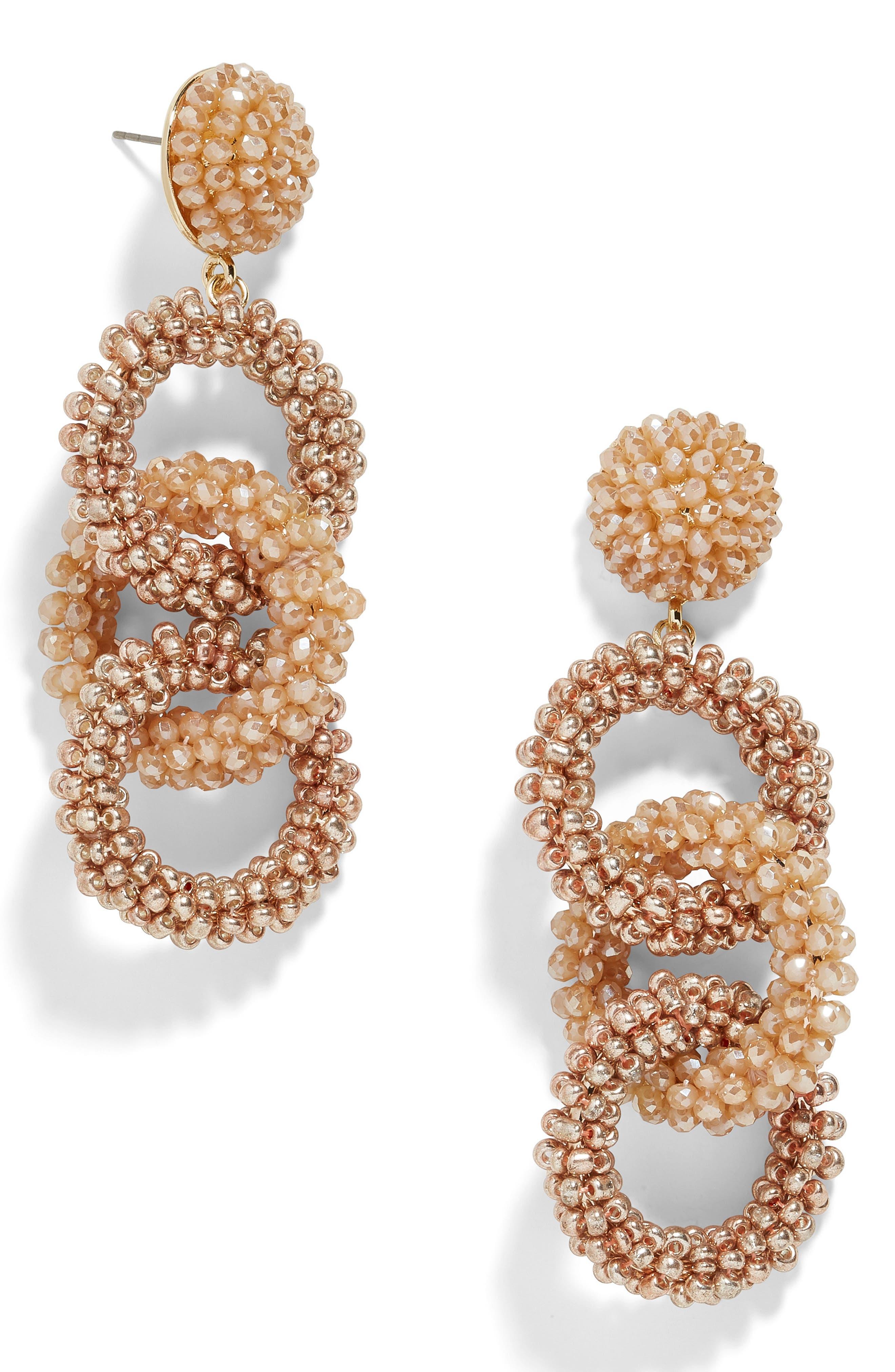 ,                             Caprica Link Beaded Drop Earrings,                             Main thumbnail 2, color,                             710