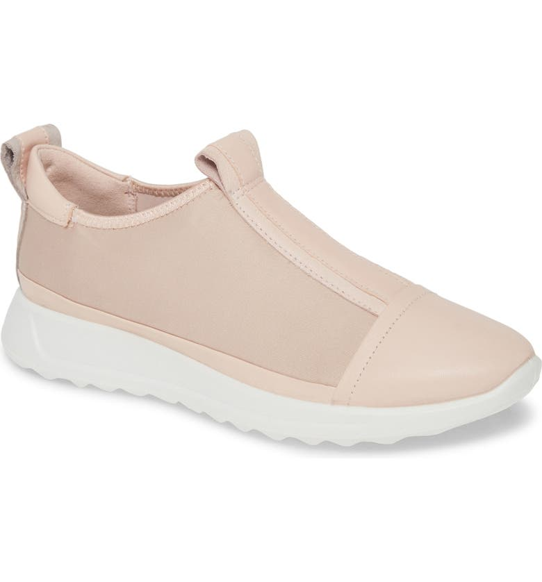 ECCO Flexure Running Shoe, Main, color, ROSE DUST LEATHER