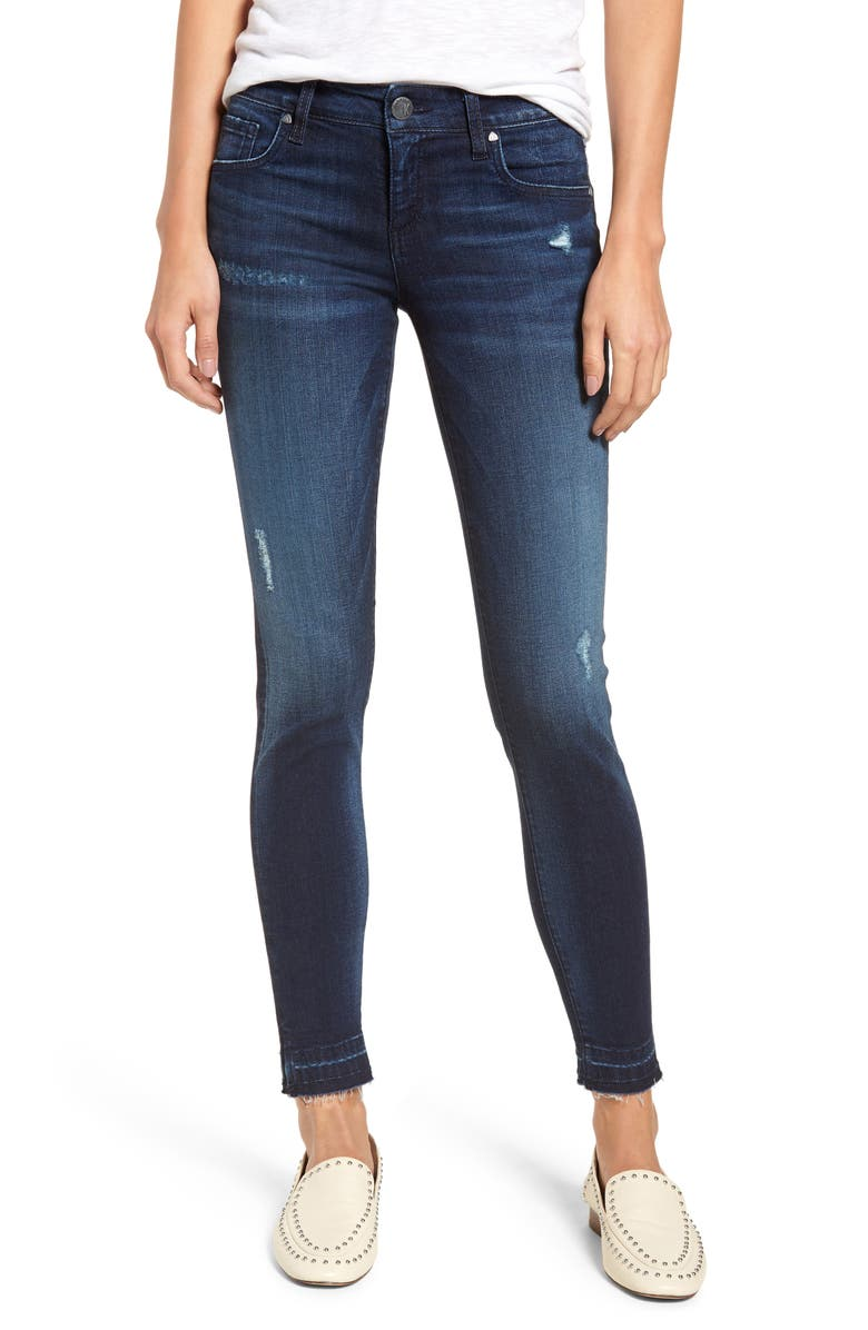KUT FROM THE KLOTH Donna Release Hem Skinny Ankle Jeans, Main, color, CIVILITY