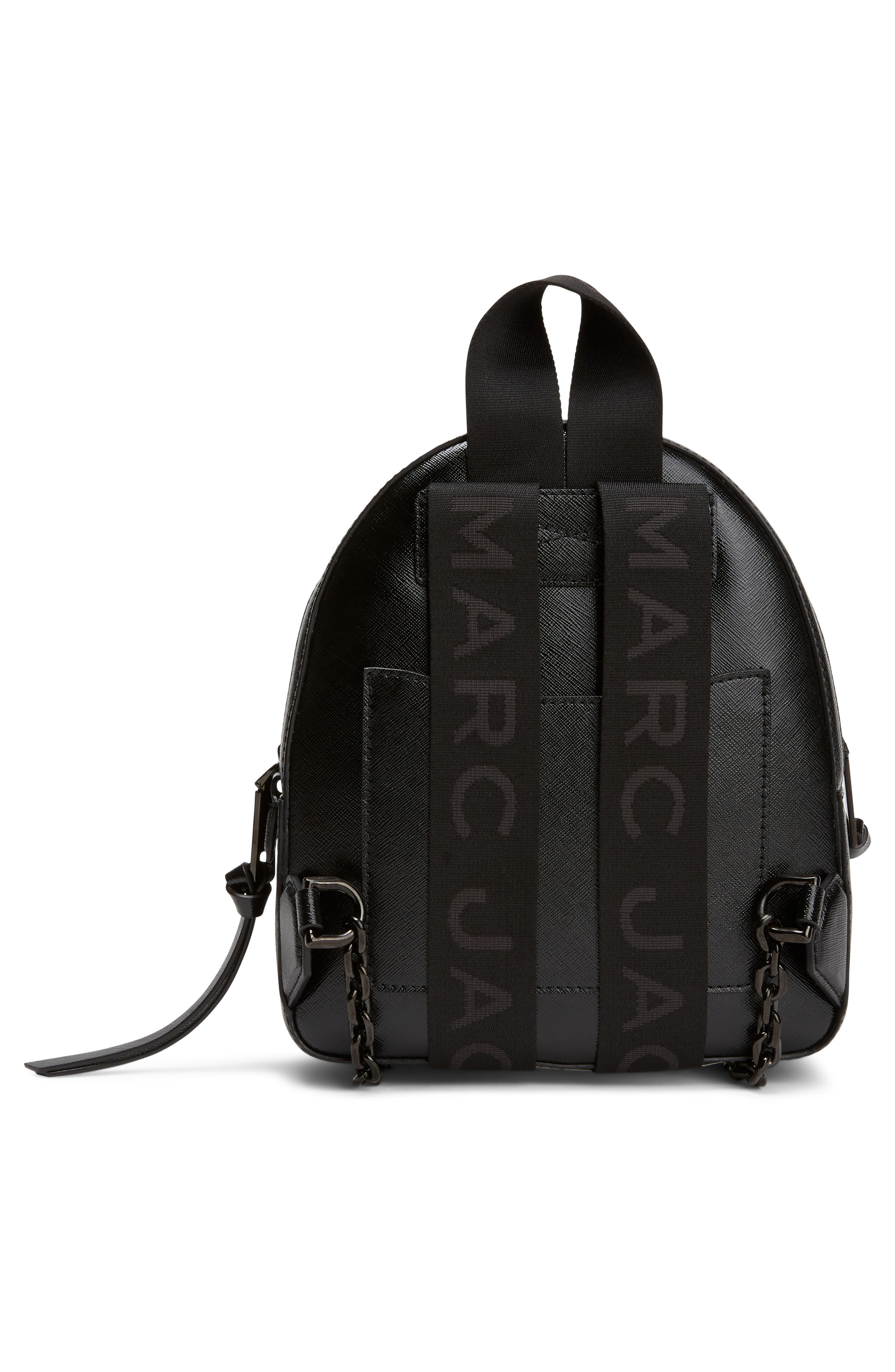 ,                             Pack Shot Leather Backpack,                             Alternate thumbnail 4, color,                             BLACK