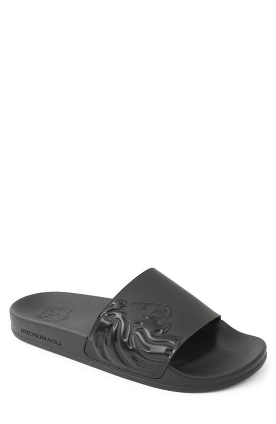 Bruno Magli Men's Messe Bologna Crest Slide Sandals In Black