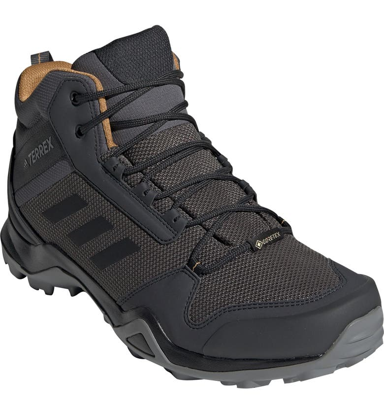 ADIDAS AX3 Mid Gore-Tex<sup>®</sup> Waterproof Hiking Shoe, Main, color, GREY FIVE/ BLACK/ MESA