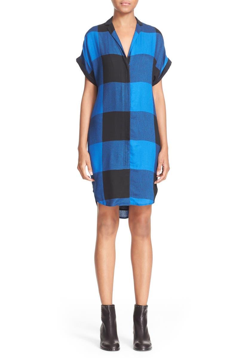 RAG & BONE Cooper Plaid Shirtdress, Main, color, 492