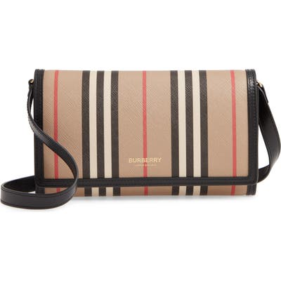 Burberry Hannah Check Wallet - Beige