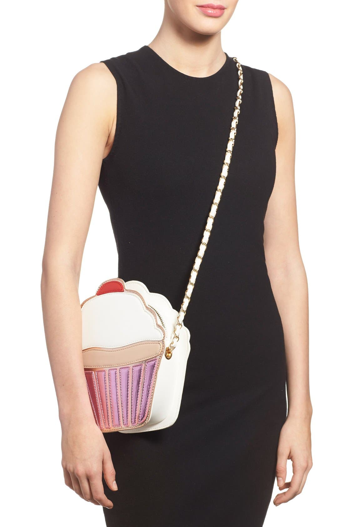,                             'Cupcake' Faux Leather Crossbody Bag,                             Alternate thumbnail 5, color,                             650