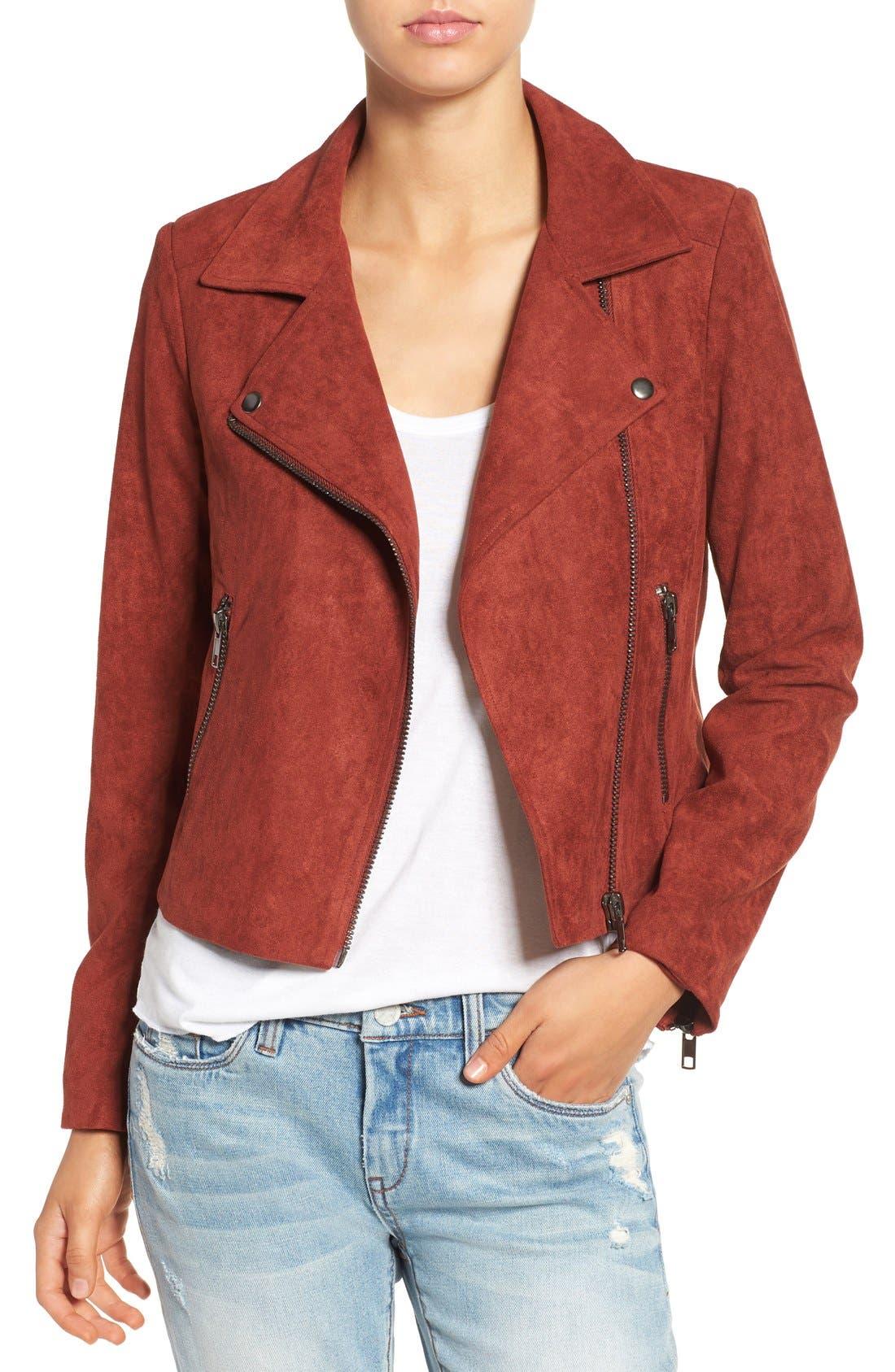 ,                             ASTR Faux Suede Moto Jacket,                             Main thumbnail 7, color,                             200