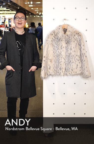 Patsy Snow Leopard Faux Fur Jacket, sales video thumbnail