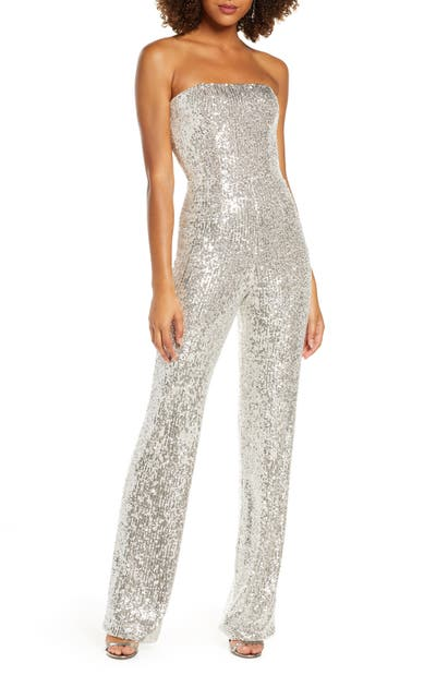Dress The Population Suits ANDY SEQUIN STRAPLESS JUMPSUIT