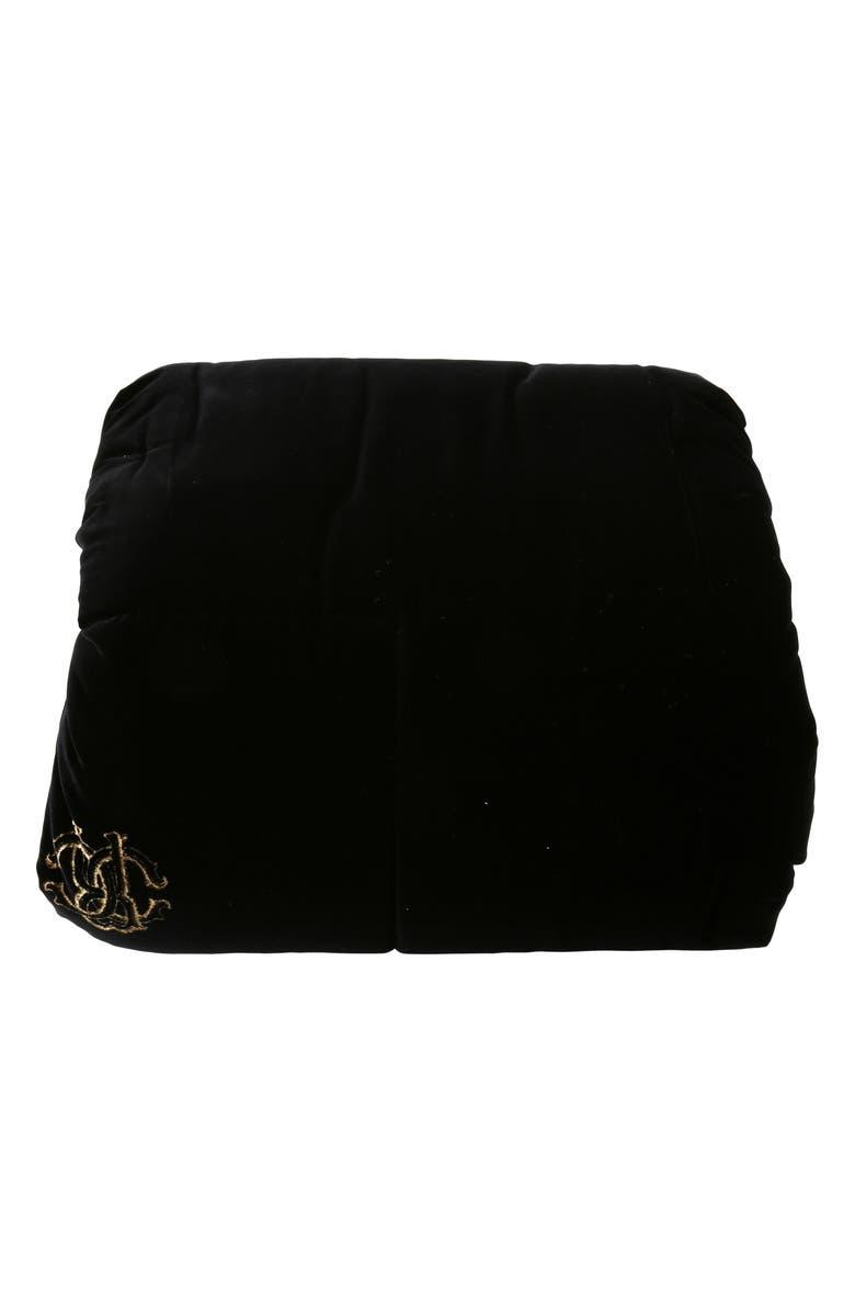ROBERTO CAVALLI Venezia Silk Comforter, Main, color, BLACK
