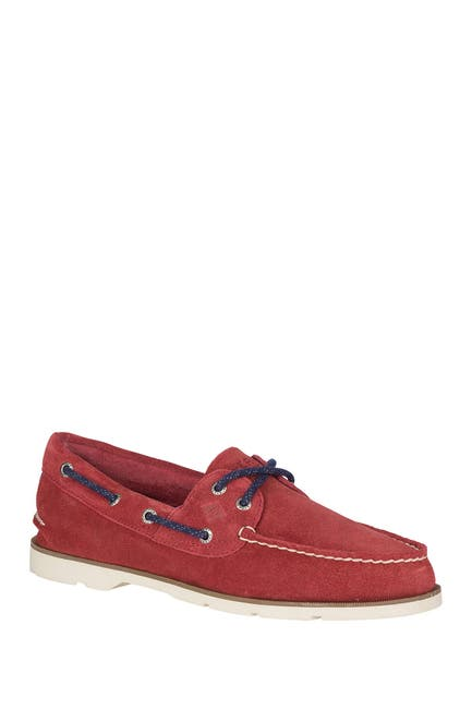 Image of Sperry Leeward 2-Eye Suede Boat Shoe
