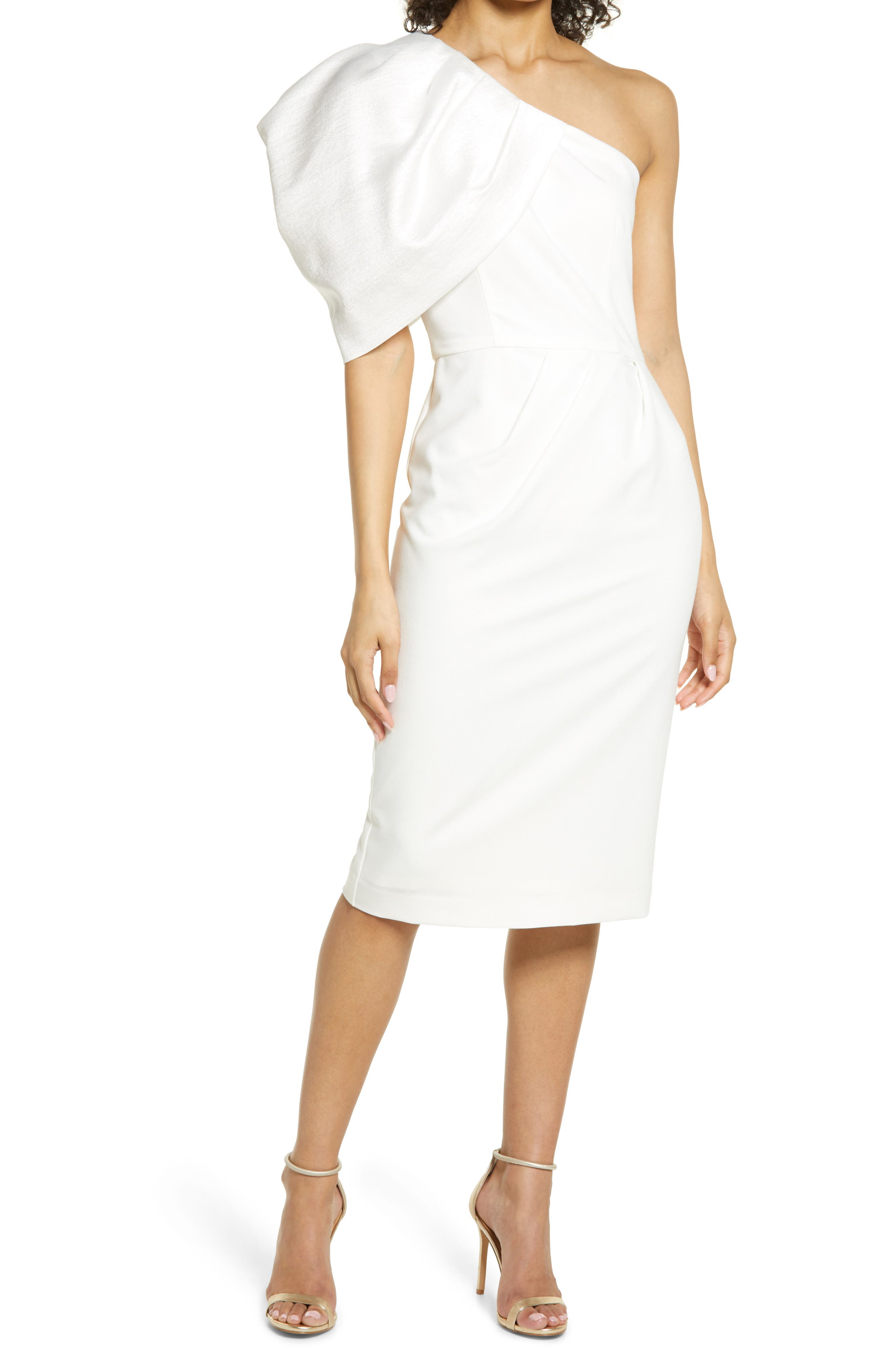 Egan One-Shoulder Sheath Cocktail Dress