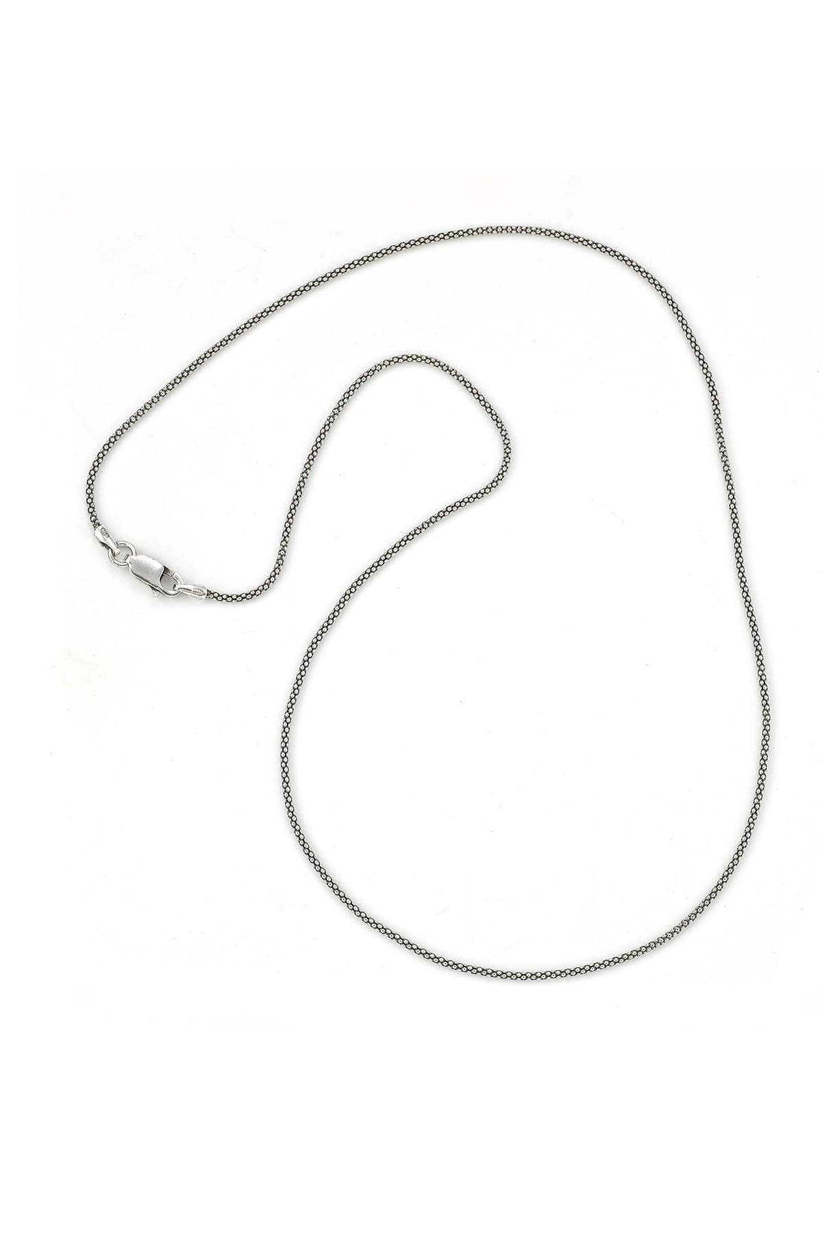 Image of Samuel B Jewelry Oxidized Sterling Silver Popcorn Chain