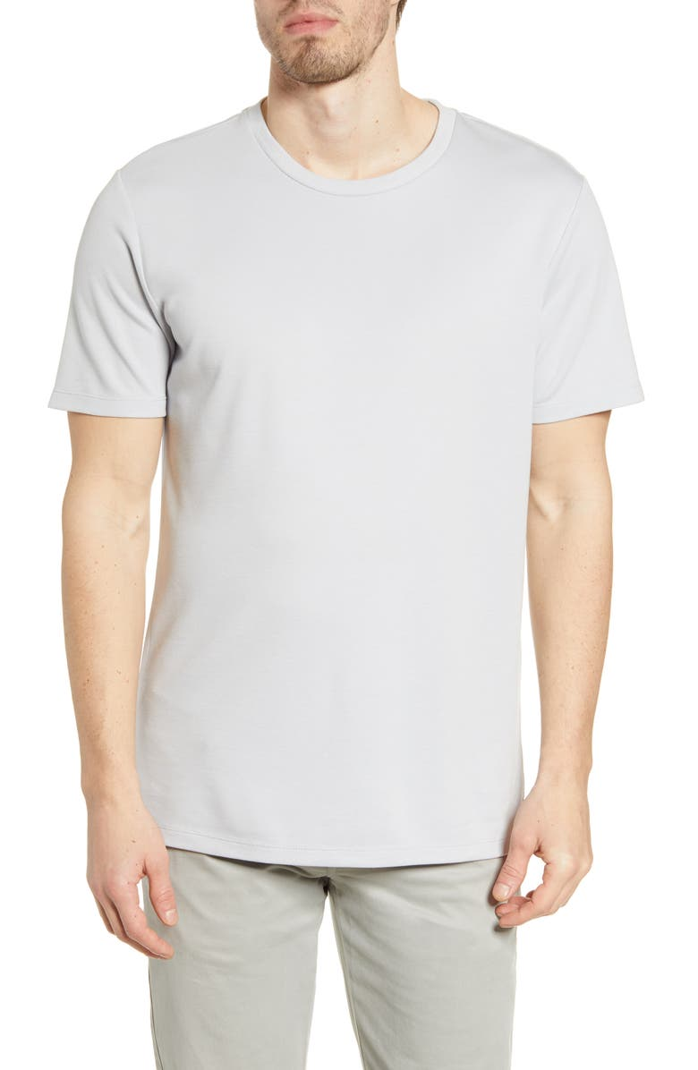 MIZZEN+MAIN Upton Lux Performance T-Shirt, Main, color, GREY SOLID