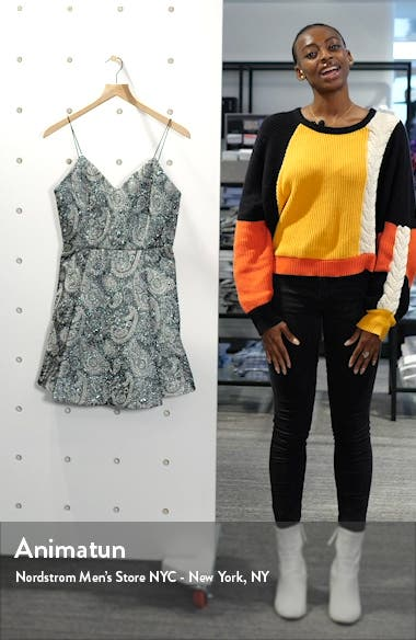 Anette Metallic Paisley Fit & Flare Dress, sales video thumbnail