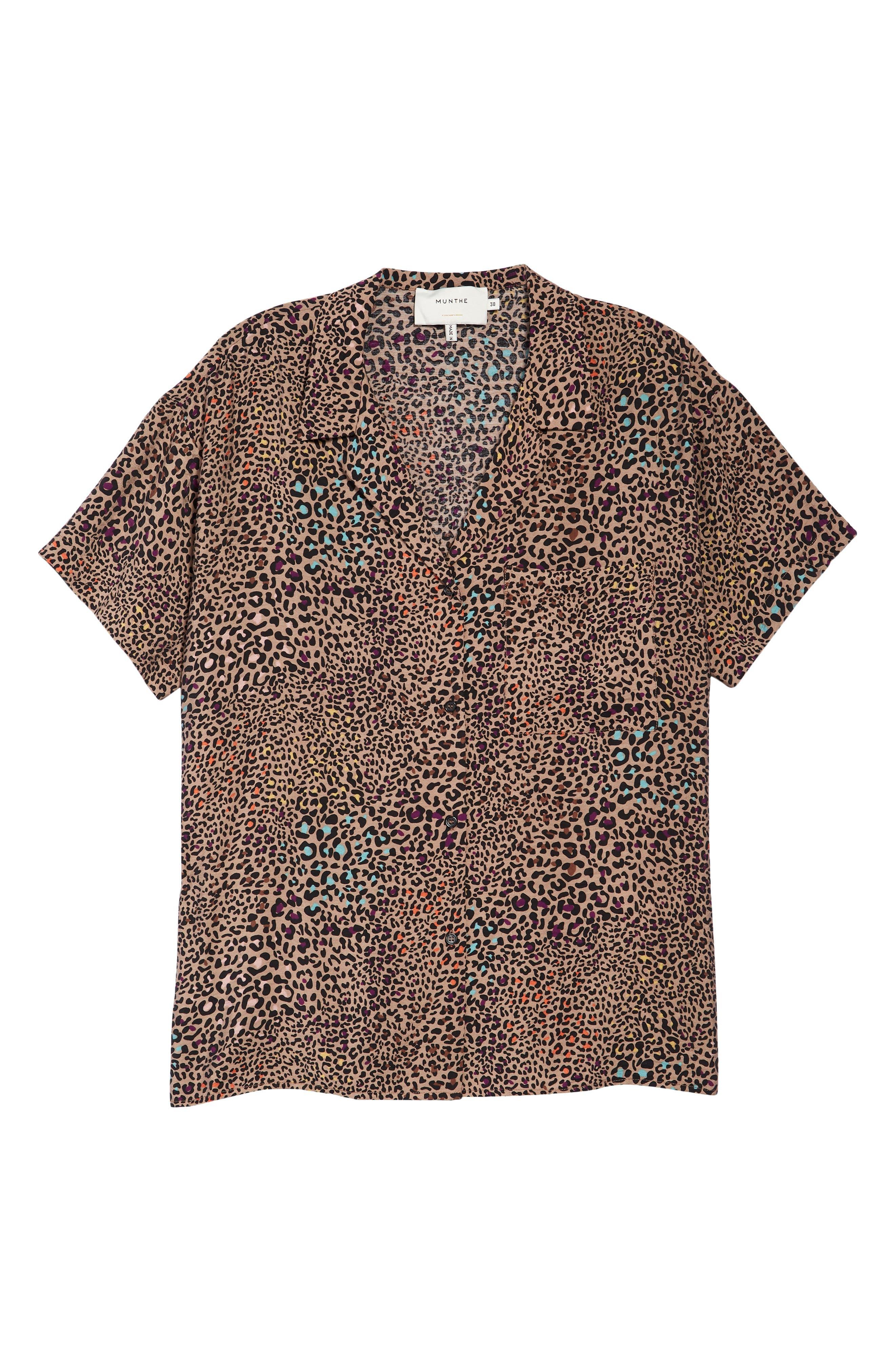 Pampas Leopard Print Camp Shirt