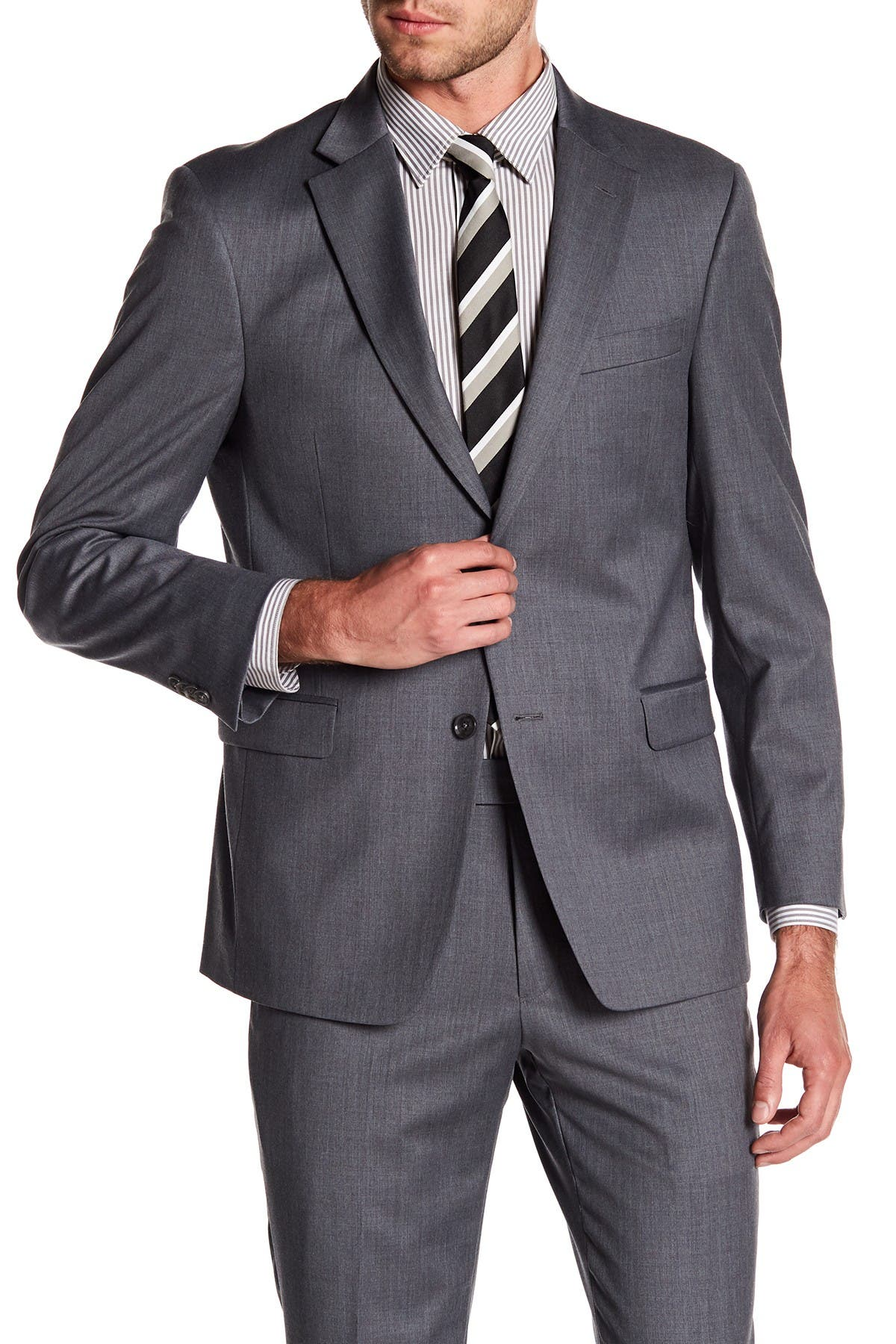 Image of Tommy Hilfiger Adams Modern Fit TH Flex Performance Wool Blend Suit Separates Jacket - Extended Sizes Available