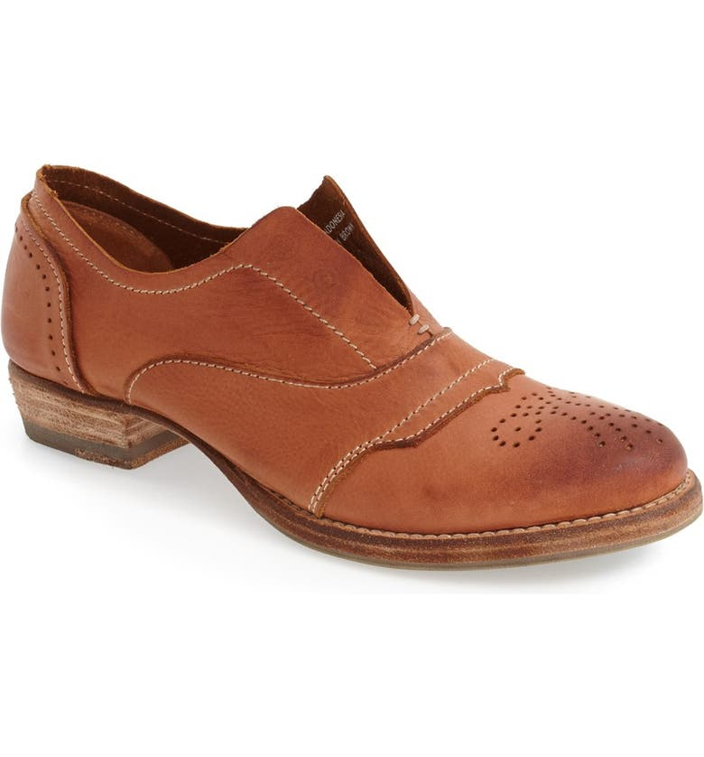 BLACKSTONE 'HL55' Slip-On Oxford, Main, color, RUSTY BROWN LEATHER