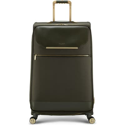 Ted Baker London Albany 32-Inch Softside Spinner Suitcase - Green
