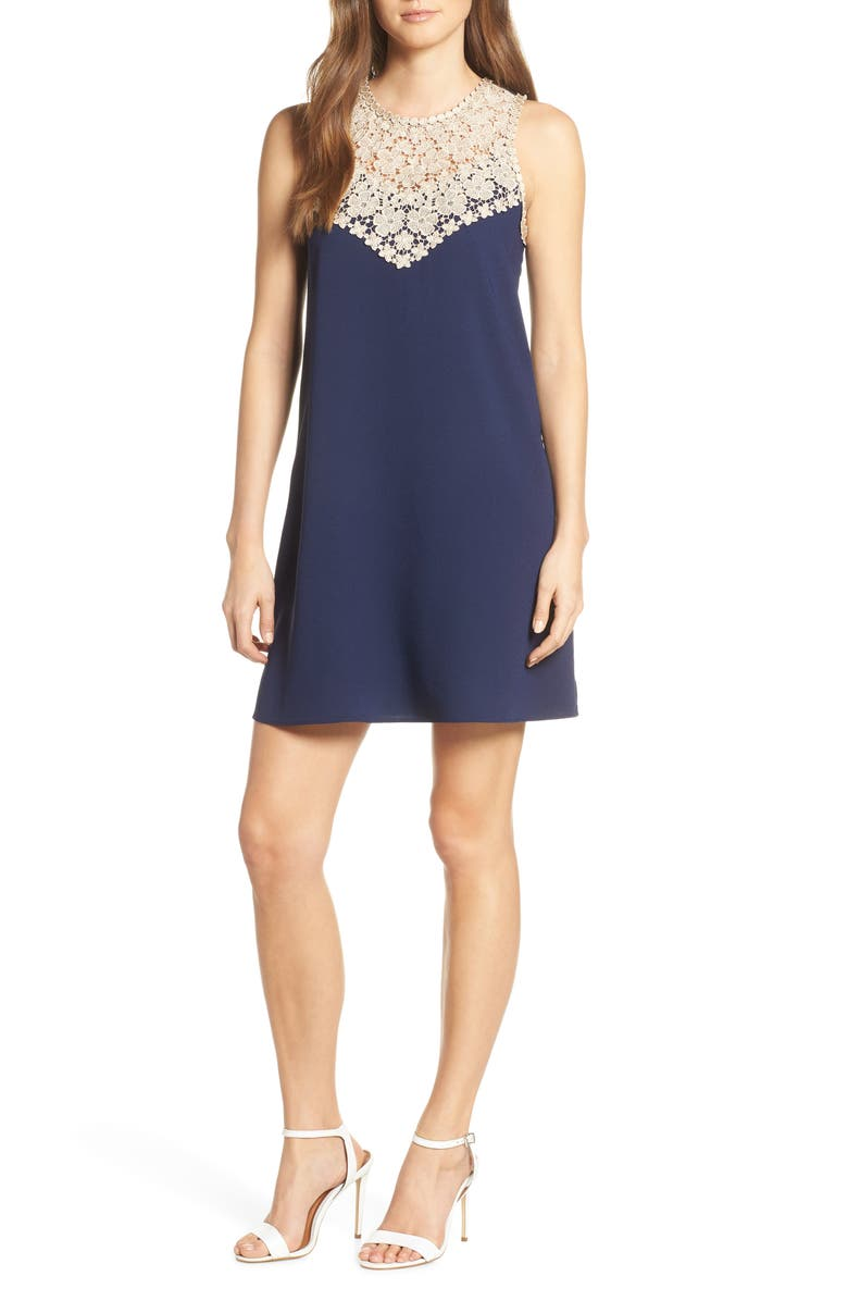 LILLY PULITZER<SUP>®</SUP> Nala Soft Shift Dress, Main, color, TRUE NAVY