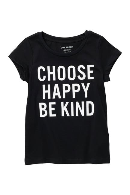 Image of Joe Fresh Short Sleeve Choose Happy Be Kind Graphic T-Shirt