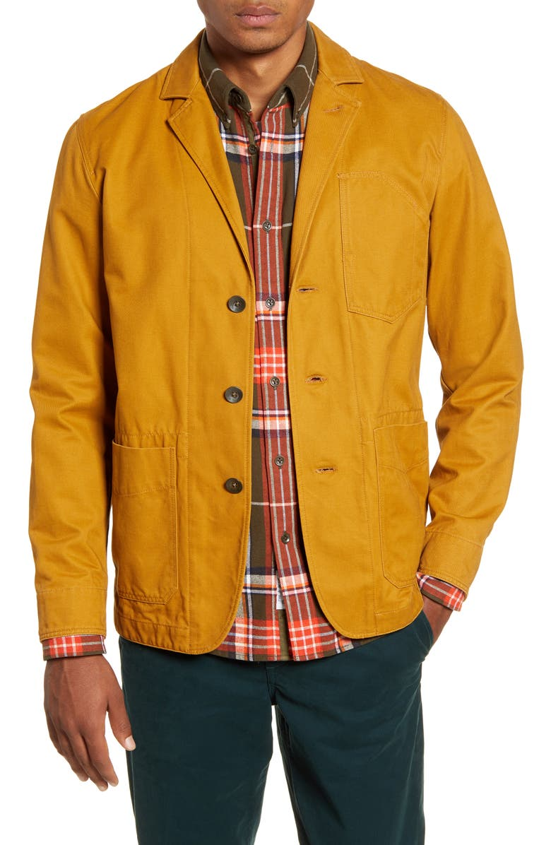 RAG & BONE Daniel Notched Lapel Twill Jacket, Main, color, SAND