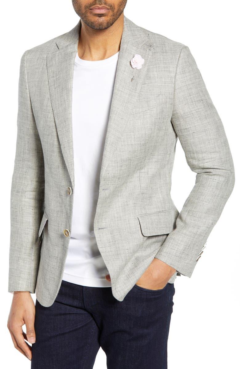 ROBERT GRAHAM Leland Regular Fit Linen & Cotton Sport Coat, Main, color, 020