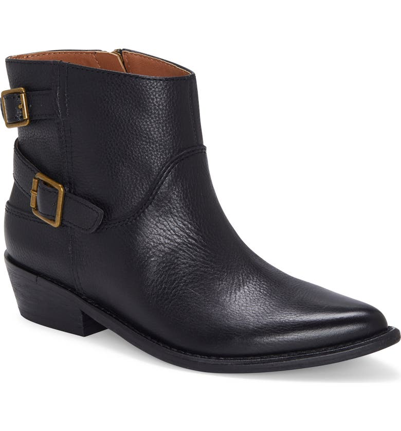 LUCKY BRAND Caelyn Bootie, Main, color, BLACK LEATHER