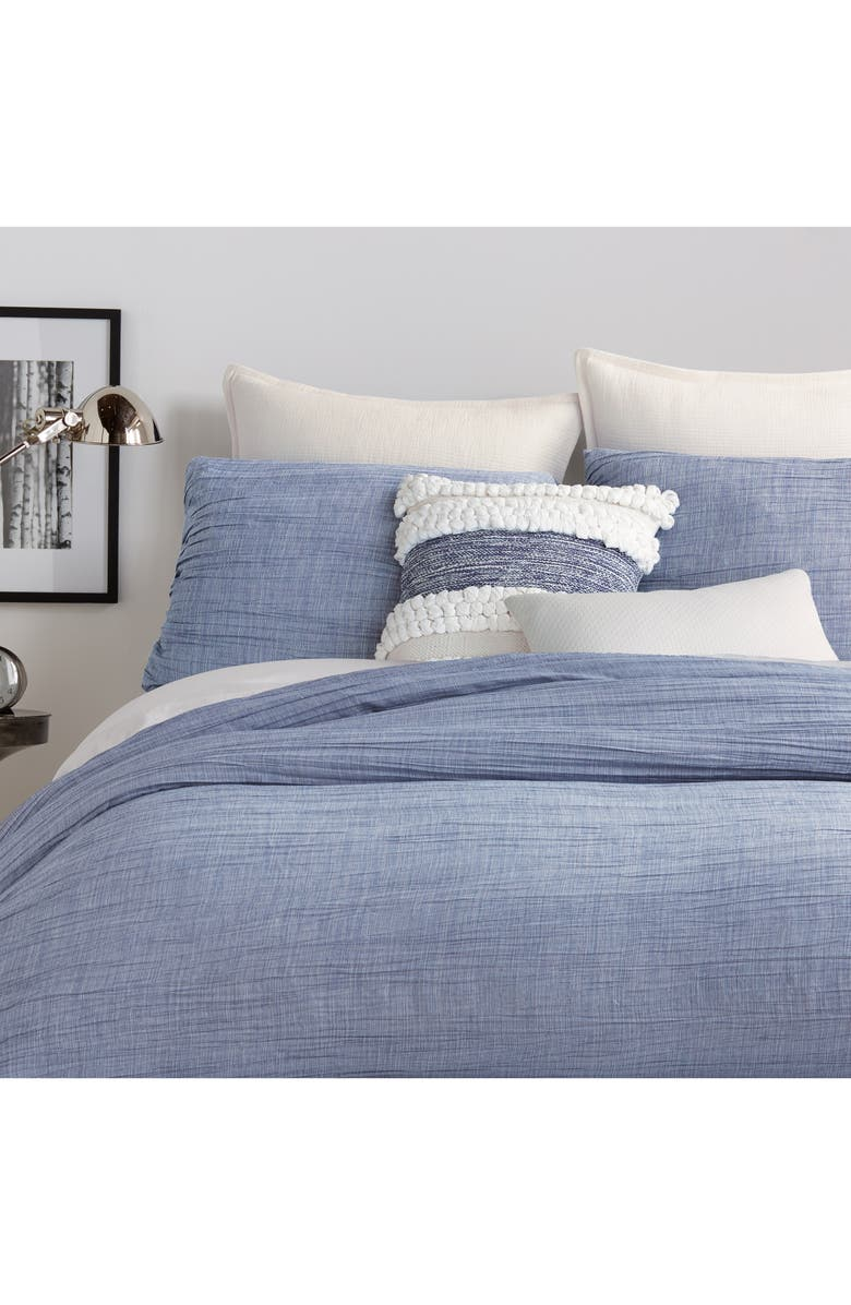 DKNY City Pleat Duvet Cover, Main, color, 400