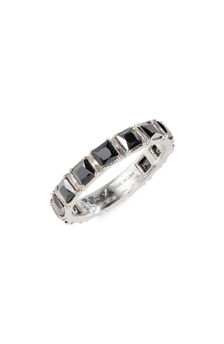 ARMENTA Hematite Stack Ring, Main, color, SILVER/ HEMATITE