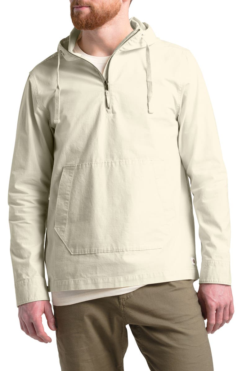 THE NORTH FACE Battlement Hooded Anorak, Main, color, VINTAGE WHITE