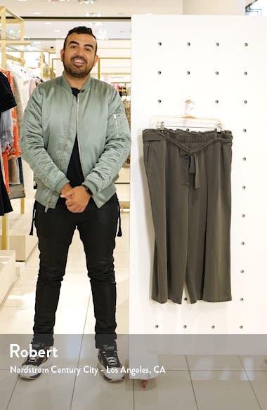 Tie Waist Wide Leg Crop Pants, sales video thumbnail