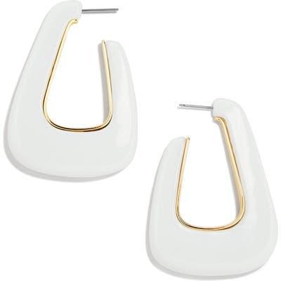 Baublebar Triangular Resin Hoop Earrings