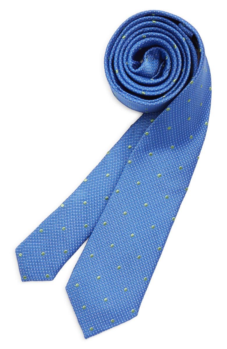 MICHAEL KORS Dot Silk Tie, Main, color, ROYAL