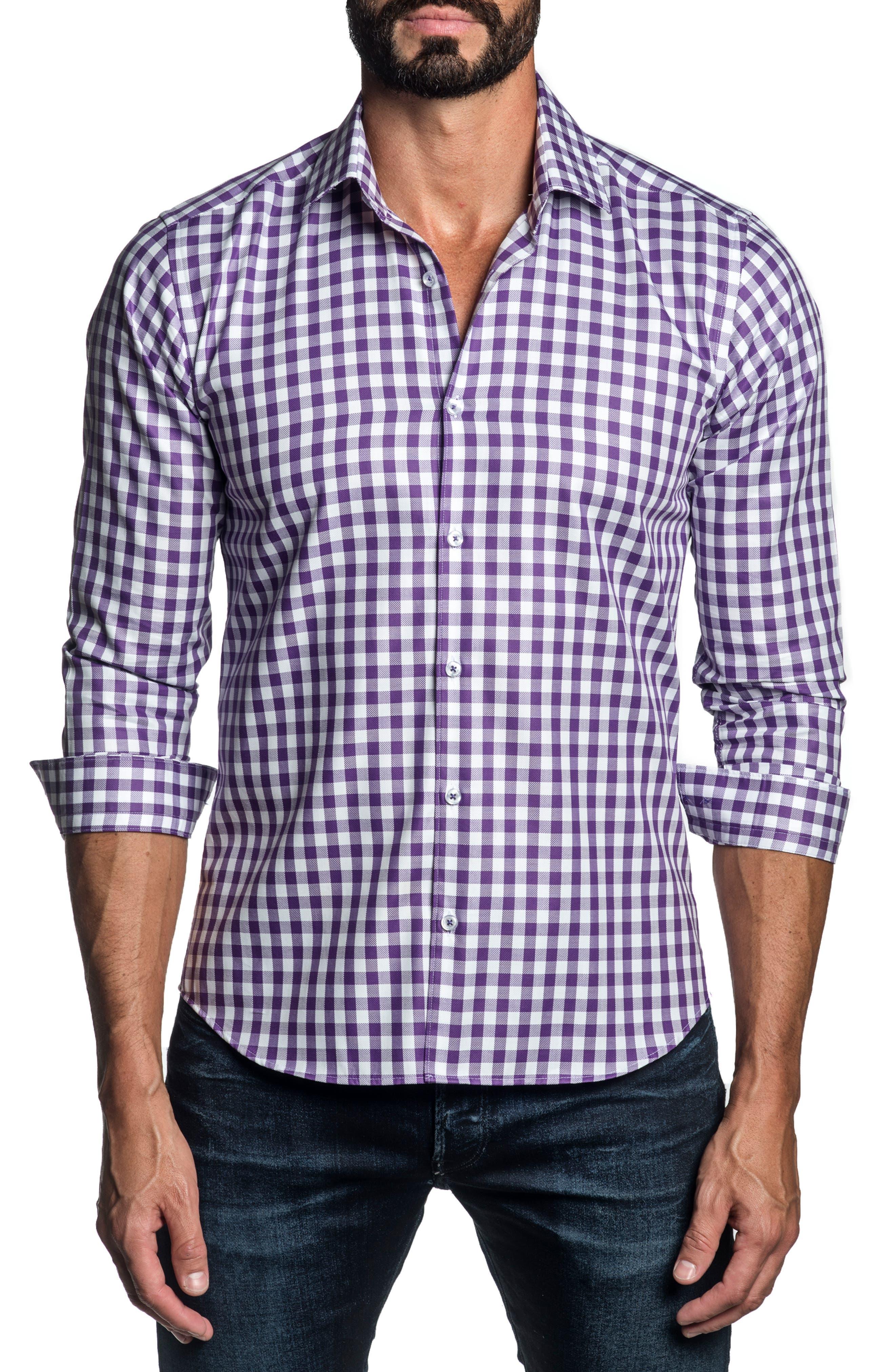 Regular Fit Check Button-Up Shirt
