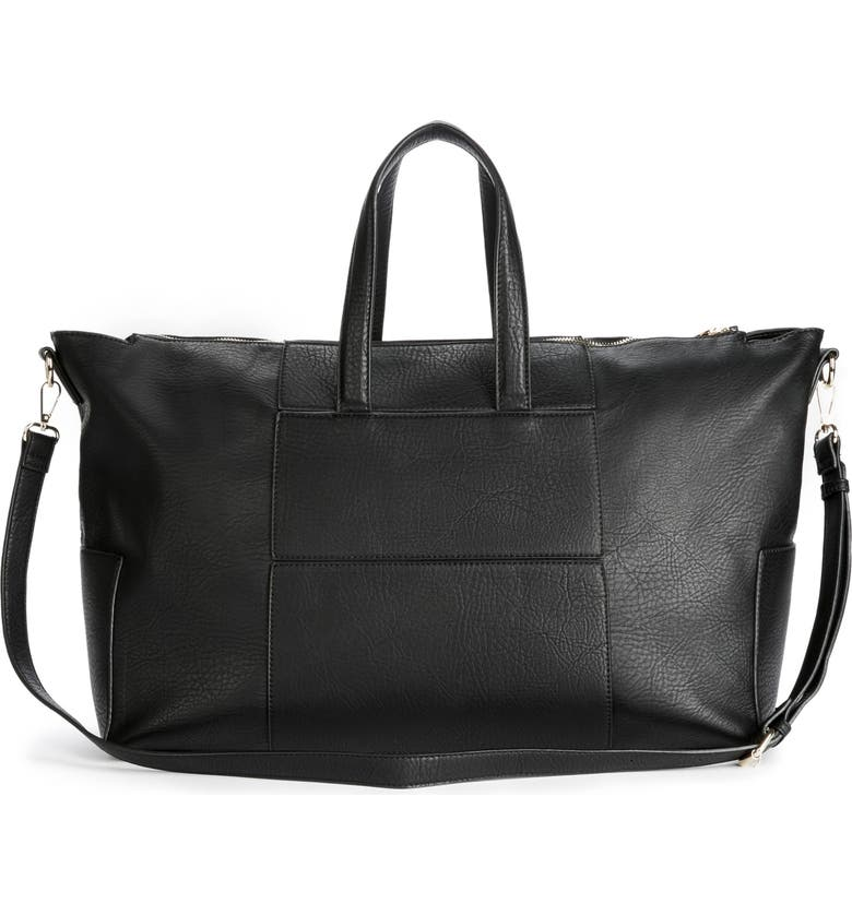 SOLE SOCIETY Cory Faux Leather Travel Tote, Main, color, 001