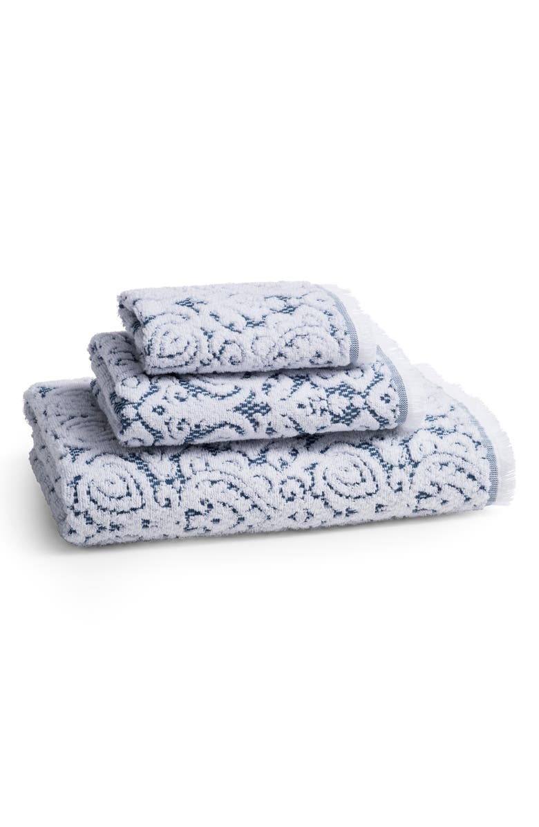 KASSATEX Dalia Bath Towel, Main, color, INDIGO BLUE