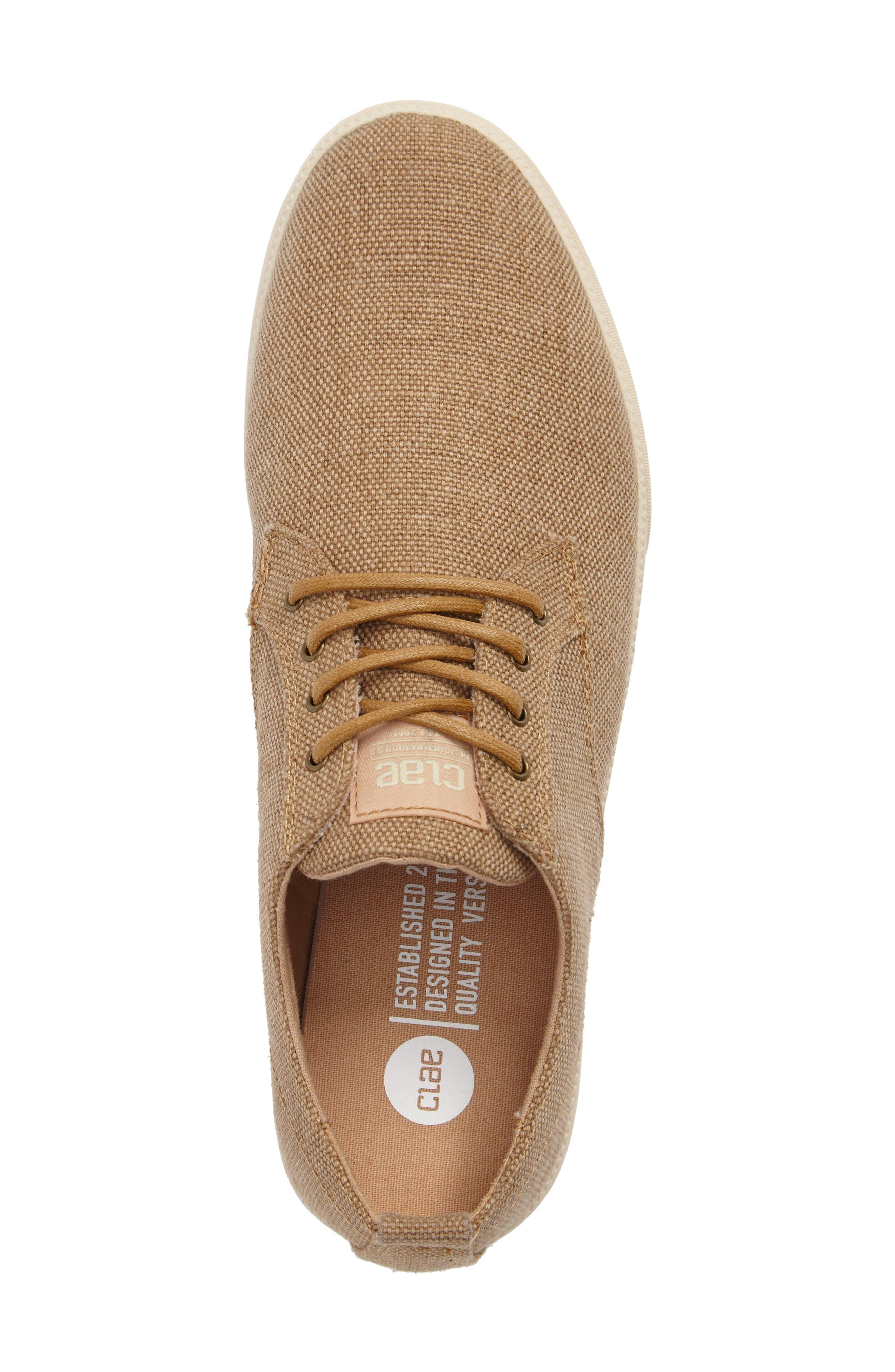 ,                             Ellington Sneaker,                             Alternate thumbnail 5, color,                             TAN HEMP CANVAS