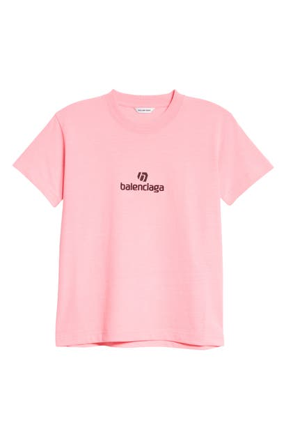 Balenciaga SPONSOR LOGO EMBROIDERED FITTED T-SHIRT
