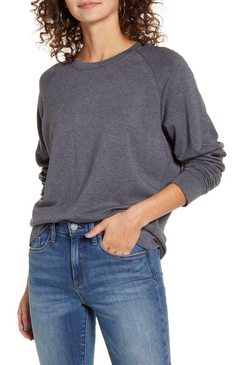 THREAD & SUPPLY Reed Sweatshirt, Main, color, HEATHER CHARCOAL