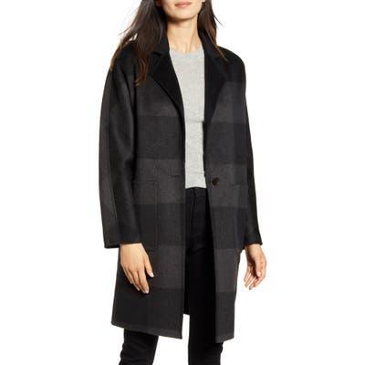 Rails Larsen Buffalo Plaid Wool Blend Coat, Grey