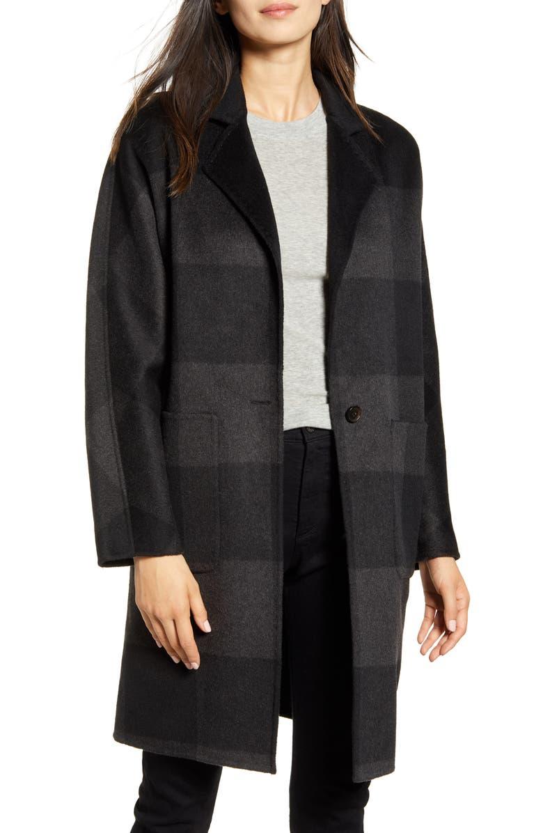 RAILS Larsen Buffalo Plaid Wool Blend Coat, Main, color, BLACK ASH BUFFALO CHECK