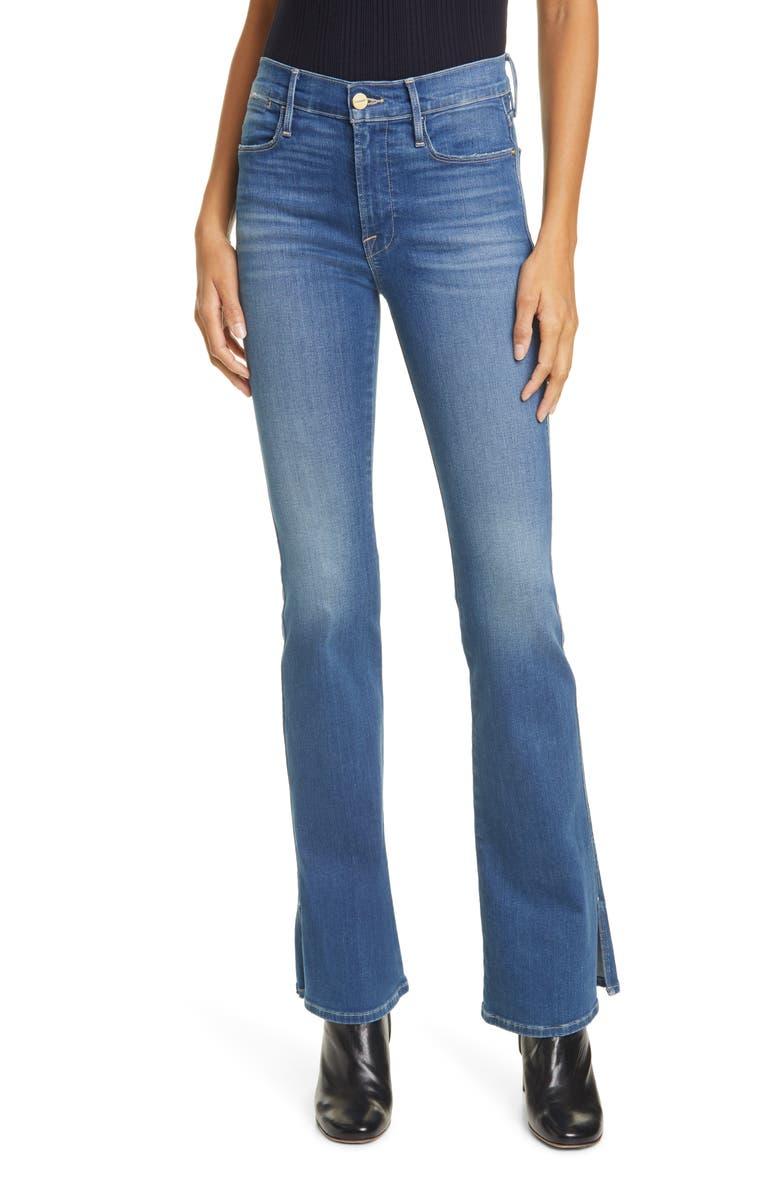 FRAME Le Pixie High Waist Split Flare Jeans, Main, color, 420
