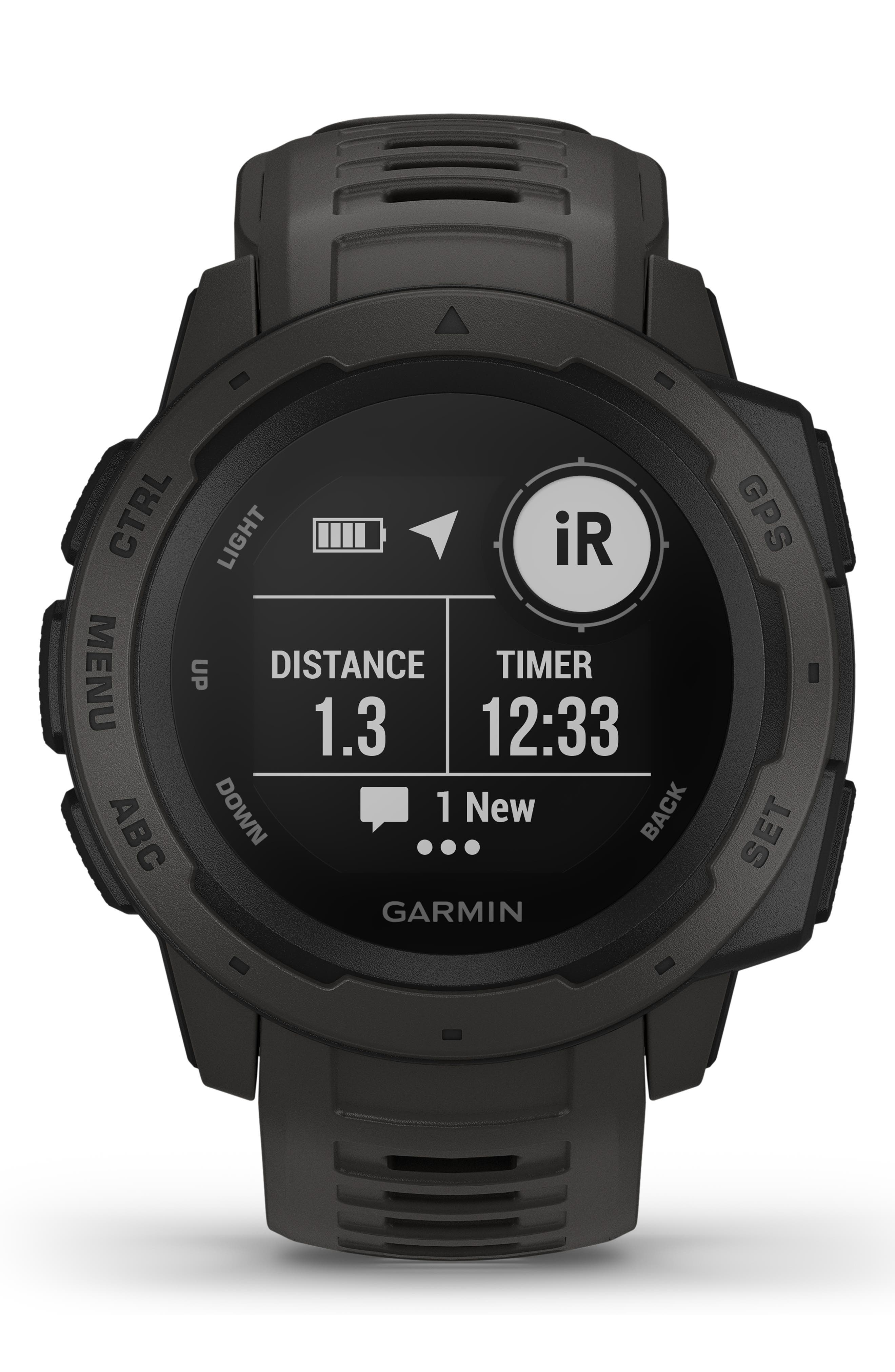 ,                             Instinct<sup>™</sup> Outdoor GPS Watch, 45mm,                             Alternate thumbnail 11, color,                             GRAPHITE
