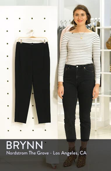 Diana Straight Leg Crepe Marocain Pants, sales video thumbnail