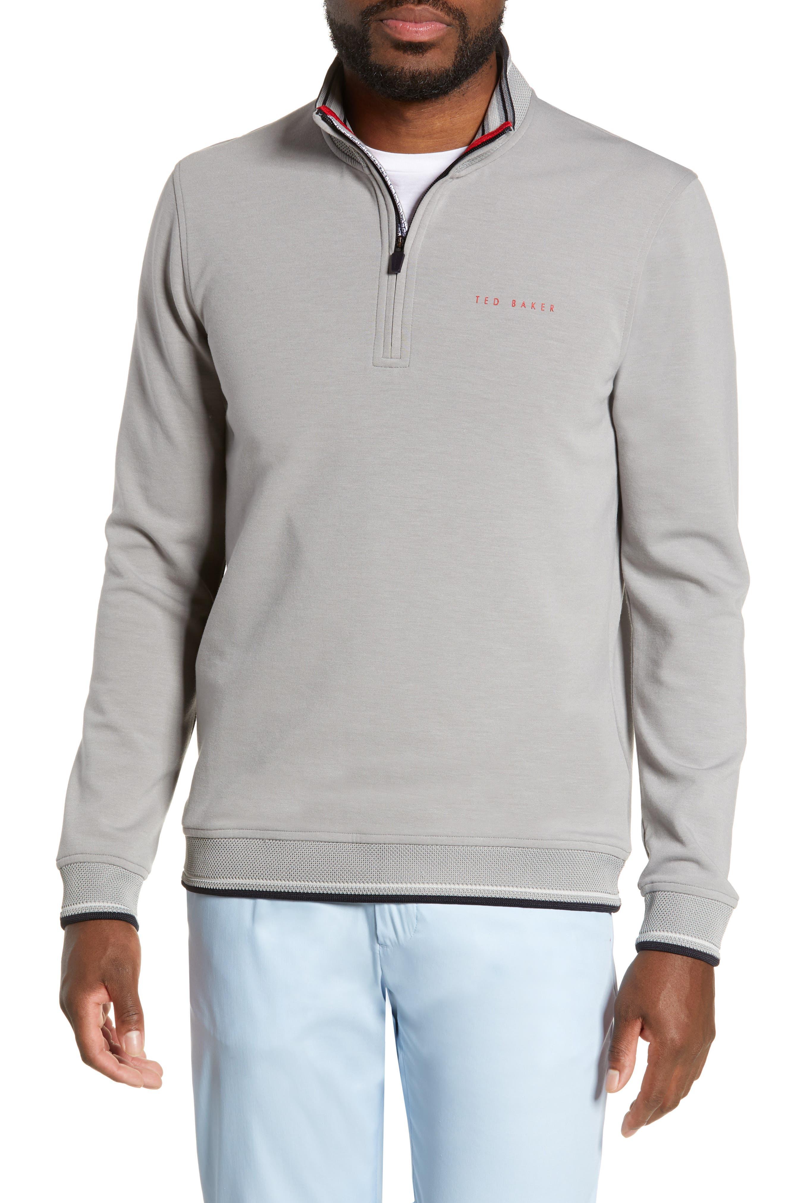 Image of Ted Baker London Peanot Golf Half Zip Slim Fit Sweatshirt