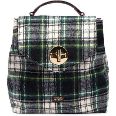 Frances Valentine Plaid Wool Backpack - Black