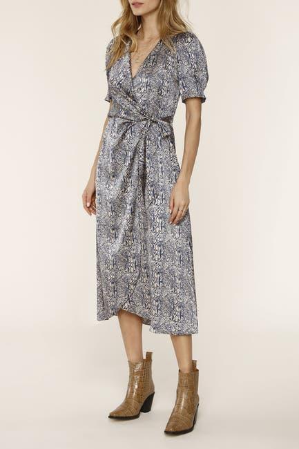 Image of Heartloom Joanie Snakeskin Print Midi Dress