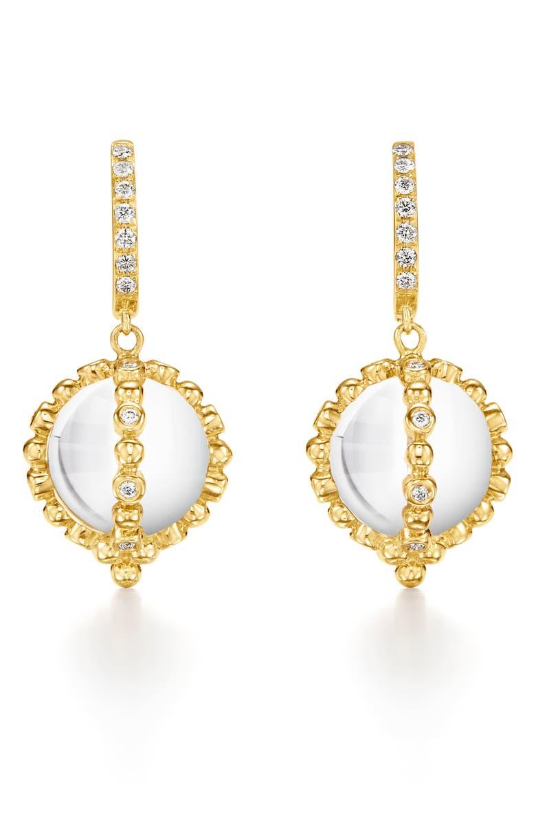 TEMPLE ST. CLAIR Sassini Amulet Pavé Diamond Drop Earrings, Main, color, CRYSTAL/ DIAMOND