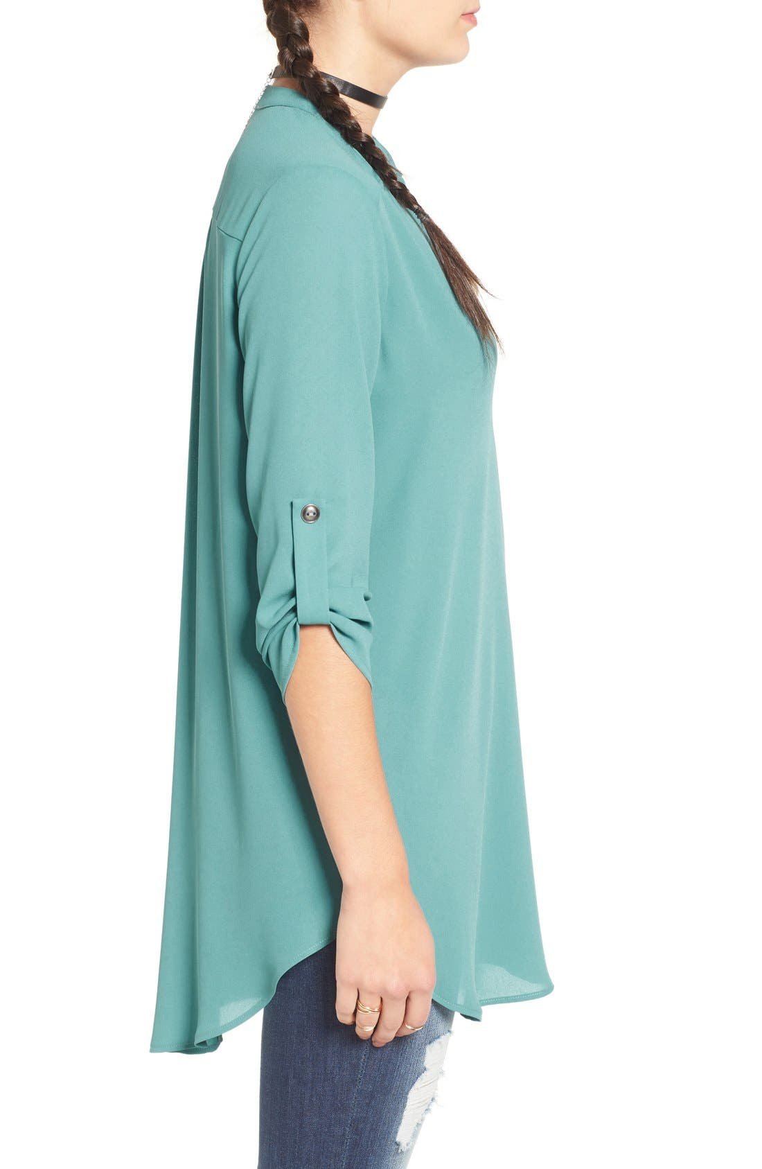 ,                             Perfect Roll Tab Sleeve Tunic,                             Alternate thumbnail 293, color,                             443